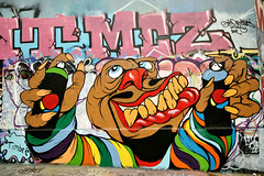 Street Art (dprezat) Tags: street urban paris art painting stencil tag graf peinture aerosol bombe pochoir ruedespyrnes ruedelagny sonyalpha700