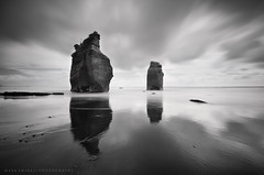 _ I I . (Mark Emirali) Tags: ocean longexposure light sea newzealand sky seascape reflection art nature water landscape rocks mood nz threesisters canon5d westcoast aotearoa taranaki copyrighted tongaporutu pleasedonotusewithoutmypermission 5dmkii markemirali markemiraliphotography