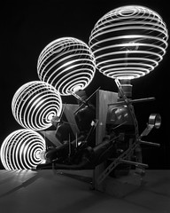 CALEB-CHARLAND_Four_Spheres_with_Compass_Penlight_and_Drill-Galeria_Rita_Castellote