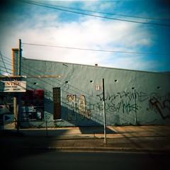 No. (lonely radio) Tags: sky cloud signs 6x6 film mediumformat concrete graffiti shadows australia melbourne victoria wires walls asphalt northcote agfaoptima100 pc3070 auspctagged dianafsnowcatedition believeinfilm scansf20111126dianaoptima05