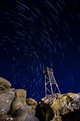 Shark Tower Trailing (Bluemonkey08) Tags: sunrise startrail ericlam redheadbeach d7000 tokina1116mmf28atxpro bluemonkey08 nikond7000