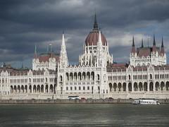 The Hungarian Parliament building from across the Danube in Budapest (Hazboy) Tags: building rio river la europa europe hungary budapest parliament government magyar ungarn danube buda pest ungheria magyarorszg hungra hongarije hongrie ungaria  hazboy hazboy1 hazboyeuro
