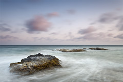 The Big Rock (DavidFrutos) Tags: longexposure sunset sea costa seascape b