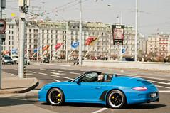 Speedster (Lambo8) Tags: d300 german hypercar cabriolet speedster 356 blue bleue porsche switzerland worldcars supercar suisse s power photo nikon ge geneva genve gt horse hp nikkor d ch car afd af 80mm 80200mm 80200 80 8 28 200mm 200 limited edition