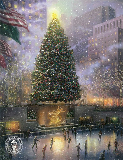 THOMAS KINKADE - Christmas in New York