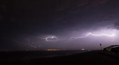 Thunderstorm over Texel (Lennart Batenburg) Tags: cloud netherlands canon eos shelf cape strike thunderstorm lightning thunder mcs texel 1022 denhelder lifted 50d squalline