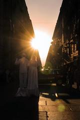 Turin's sunset (matteo | sartori) Tags: street sunset italy silhouette strada artist via di matteo turin garibaldi controluce artisti sartori