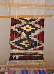 New Mexico Loom and Weaving (Teyacapan) Tags: newmexico santafe wool weaving picnik loom southwestern golondrinas telar