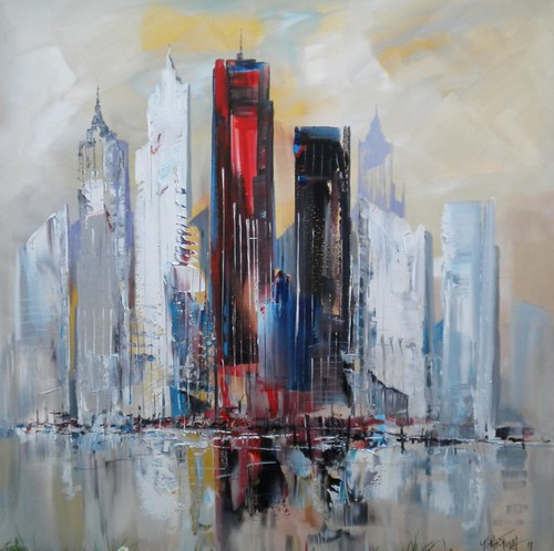 City of the World - Painting - Abstract Impressionism