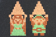 IMG_2022 (The New Woodsman) Tags: nerd crossstitch embroidery nintendo retro gaming link zelda nes 8bit embroidered geekery triforce