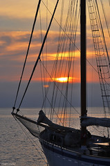 Schooner 3 (marcovdz) Tags: old sunset sea mer france clouds sailboat boat marseille sailing traditional provence nuages bateau lesgoudes schooner rigging voilier coucherdesoleil alliance prow proue vieuxgréement goélette