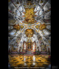 Basilica of Vierzehnheiligen - Bad Staffelstein, Germany (HDR Vertorama) (farbspiel) Tags: panorama church photoshop germany geotagged religious bayern nikon basilica religion wideangle v handheld stitching photomerge stitched pilgrimage dri deu hdr watermark hdri topaz adjust superwideangle infocus 10mm postprocessing ultrawideangle photomatix badstaffelstein denoise watermarking vierzehnheiligen vertorama d7000 topazsoftware sigma1020mmf35exdchsm geo:lat=5011555957 geo:lon=1105394661