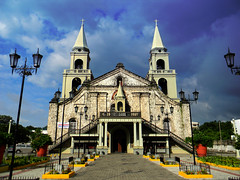The Jaro Cathedral (Gilbert Rondilla) Tags: camera sky color church horizontal architecture clouds digital point temple nikon shrine shoot philippines chapel gilbert baroque digicam candelaria iloilo jaro pns l110 jarocathedral gilbertrondilla gilbertrondillaphotography luisianian gettyimagescollection churchofstelizabethofhungary gettyimagesphiliippinesq2 gettyimagesphilippinesq2