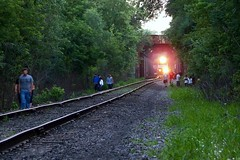 no problems here, carry on as usual (Hank Rogers) Tags: pictures railroad bridge light people motion night danger train photography lights evening photo dangerous photos accident pennsylvania ns norfolk dream picture surreal rr southern pa photographs photograph rails catfish pedestrians nightmare unusual northbound wilkesbarre norfolksouthern edwardsville toprotecttheinnocent sunburyline sunburysub sunburysubdivision