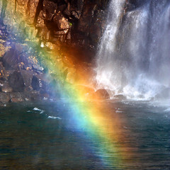 Rainbow at waterfall (Z Eduardo...) Tags: nature water rock island waterfall iceland rainbow europe colours westfyords mygearandme mygearandmepremium mygearandmebronze mygearandmesilver mygearandmegold mygearandmeplatinum artistoftheyearlevel3 artistoftheyearlevel4