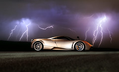 Storm ([ JR ]) Tags: new light sky storm car sport night photoshop canon grey italian shot unique jr collection exotic 17 50 tamron et rare supercar oe pagani huayra vigeant s550d