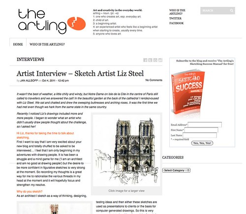 Interviewed on Artling by borromini bear