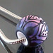 Charm bead : Purple lotus