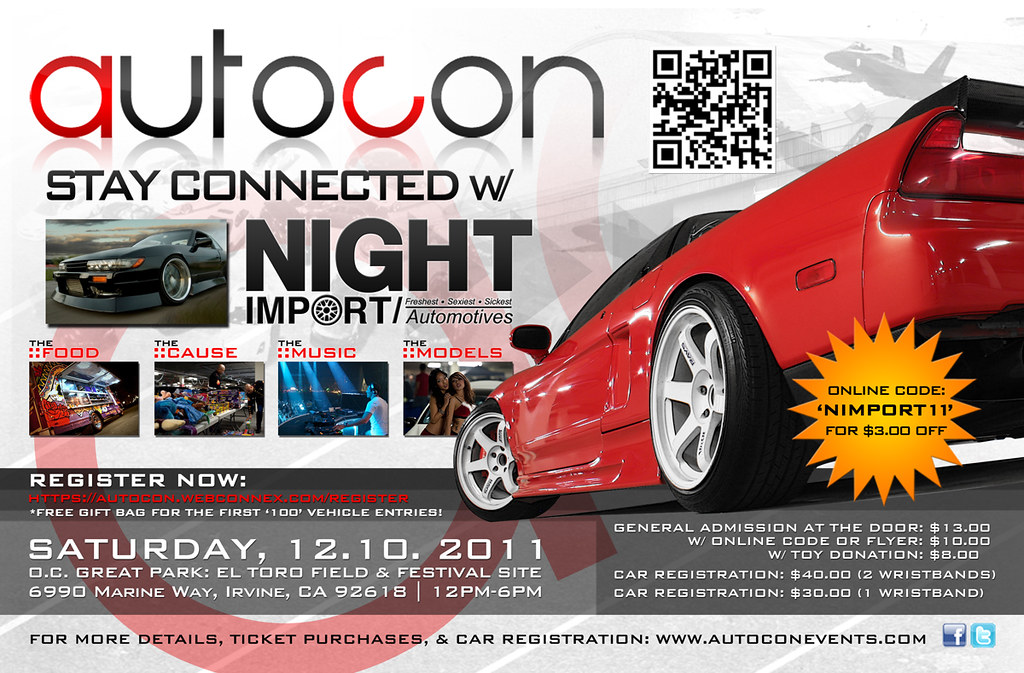 AutoCon flyer for Night-Import