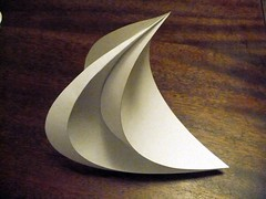 The Horns of Selene (oschene) Tags: origami sine developable curvedsurface geogebra