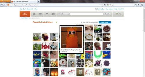etsy screen shot - ginger cat by Gemma_Day
