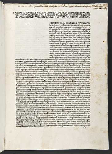 Ownership inscription in Tortellius, Johannes: Orthographia