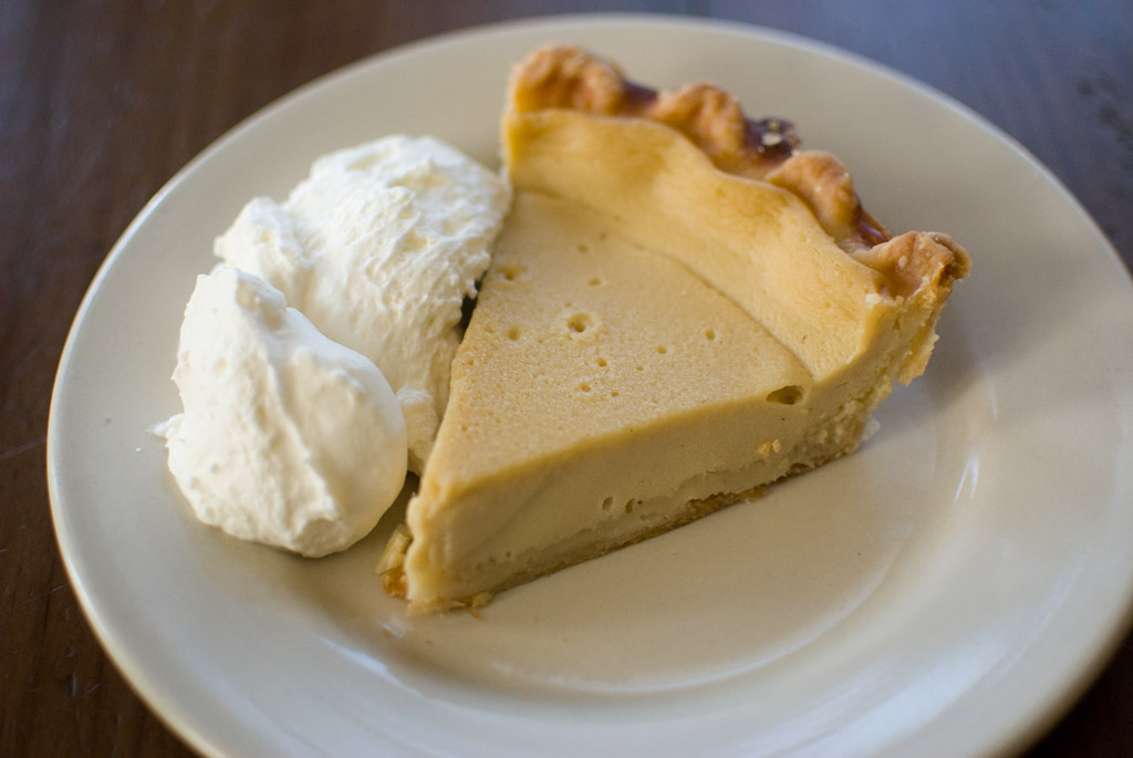 Maple Buttermilk Custard Pie