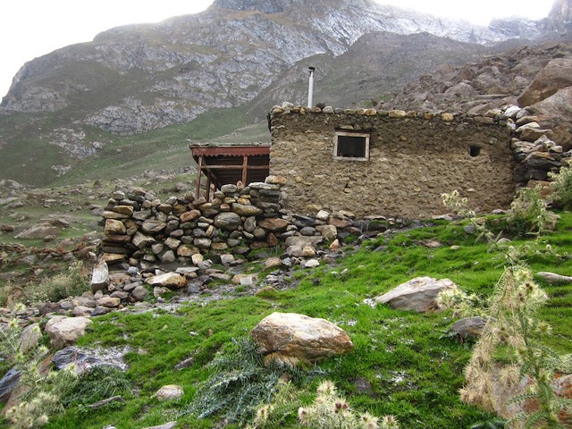 The hut at the base of Ultar, Karimabad, Pakistan.