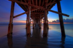 perfect symmetry (Eric 5D Mark III) Tags: california sunset shadow sky usa cloud seascape color reflection beach canon landscape photography pier vanishingpoint twilight unitedstates perspective atmosphere wideangle newportbeach symmetry orangecounty tone ericlo ef14mmf28liiusm eos5dmarkii