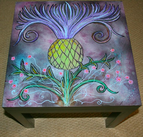 art  nouveau inspired coffee table by Rick Cheadle Art and Designs