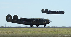 Heavy Bombers (Ken's Aviation) Tags: texas airshow explore consolidated caf liberator midland b24 airsho commemorativeairforce confederateairforce am927 n24927 ol927