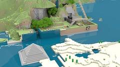 Scott's Harbour (Gnu2000) Tags: render blender minecraft mcobj