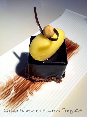 Milk Chocolate Praline Cake- Yauatcha, Soho