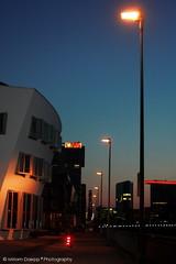 Harbour at dawn (Miriam Daepp) Tags: barcelona city urban london reflections germany switzerland losangeles citylife streetphotography istanbul lausanne venicebeach bern duesseldorf cityscenes gehryhouse gehryarchitecht