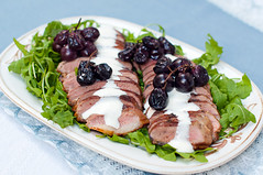 Duck Breast with Roasted Grapes () Tags: duck breast cream grape roasted