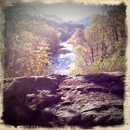 View from GAP Trail near Ohiopyle