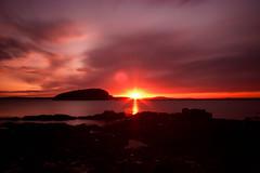 The 1st Sunrise in America (A. Strakey) Tags: longexposure autumn fall sunrise dawn maine newengland acadianationalpark mtdesertisland ndfilter barharborme frenchmanbay downeastmaine hancockcounty shorepath cromwellcove