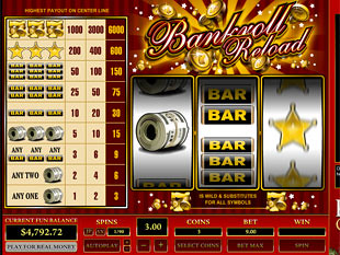Bankroll Reload 1 Line slot game online review