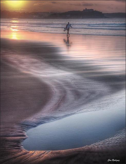 charco en la orilla