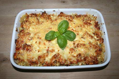 48 - Putengyros-Nudelauflauf / Turkey gyros noodle casserole - Fertiges Gericht
