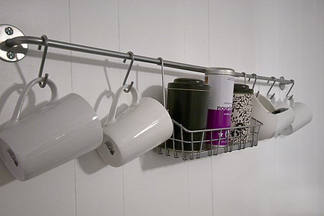 coffee/tea bar rack
