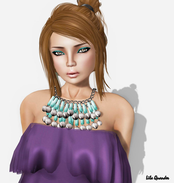TRUTH  Cate Streaked - fudge by Truth Hawks & LaGyo_Jan necklace by by Gyorgyna Larnia