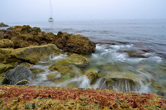 Descanso Beach Cove, Catalina (sghosh_photography) Tags: ocean longexposure panorama beach night dark island catalina rocks waves colours pacific catalinaisland slowshutter avalon santacatalina