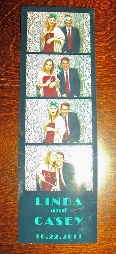 Beth & Kalev at the Photobooth at Linda & Casey's Wedding