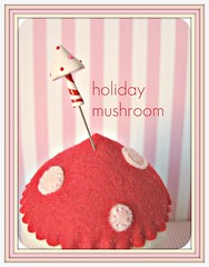 candy stripe mushroom pin topper (Pinks & Needles (used to be Gigi & Big Red)) Tags: sculpture holiday sculpted 2011 etys gigiminor pinksandneedles pintoppers pintopper