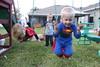IMG_9082 (drjeeeol) Tags: halloween costume backyard katie superman charlie will superhero cape supergirl triplets toddlers 2011 36monthsold