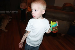 IMG_9128 (drjeeeol) Tags: tattoo arm tattoos will triplets toddlers tatoo 2011 36monthsold