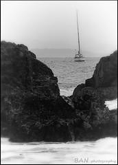 Rocks ahead (BAN - photography) Tags: ocean sea rocks sailing shore byronbay sailingboat yatcht