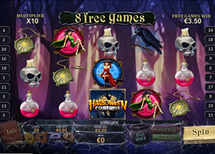 free Halloween Fortune slot free spins prize