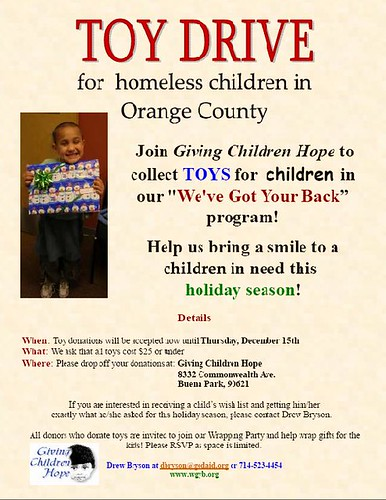 Toy Drive 2011 Flier Photo
